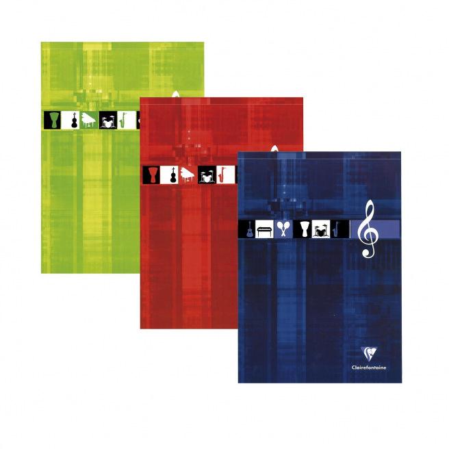 Bloc de papier à musique CLAIREFONTAINE A4