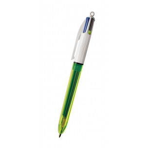 Stylo-bille BIC 4 COULEURS FLUO
