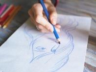 Crayons de couleur beaux-arts
